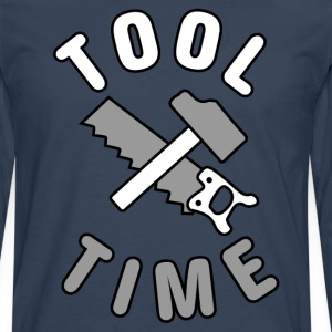 Tool Time saw and hammer T-Shirts - Men's Premium Longsleeve Shirt