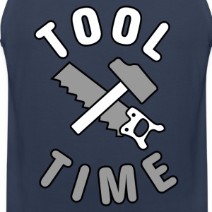 Tool Time saw and hammer T-Shirts - Men's Premium Tank Top