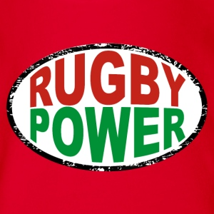 basque rugby power Tee shirts - Body bébé bio manches courtes