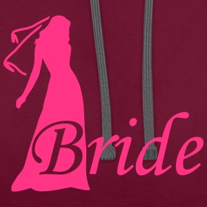bride silhouette hen night Tops - Contrast Colour Hoodie