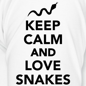 Keep calm and love snakes Flaschen & Tassen - Männer Premium T-Shirt