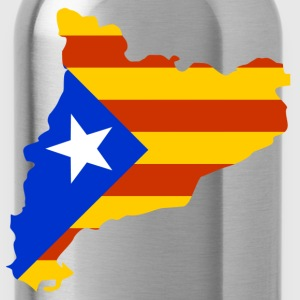 Catalonia map with flag T-Shirts - Water Bottle