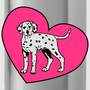 Dalmatian Puppy Dog with Heart Tops - Drinkfles