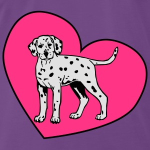 Dalmatian Puppy Dog with Heart Tops - Mannen Premium T-shirt