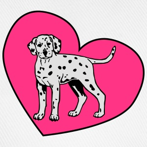 Dalmatian Puppy Dog with Heart Tee shirts - Casquette classique