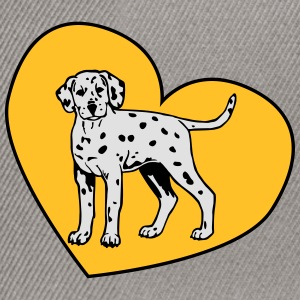 Dalmatian Puppy Dog with Heart T-Shirts - Snapback Cap