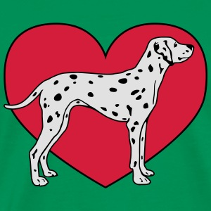 Dalmatian Dog with Heart Tabliers - T-shirt Premium Homme