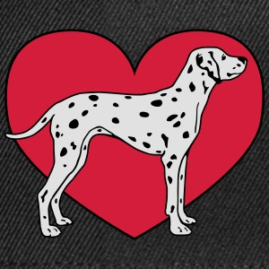 Dalmatian Dog with Heart Tee shirts - Casquette snapback
