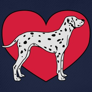 Dalmatian Dog with Heart Tops - Baseballkappe