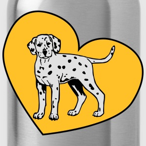 Dalmatian Puppy Dog with Heart Shirts - Drinkfles