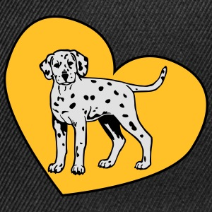 Dalmatian Puppy Dog with Heart Tee shirts - Casquette snapback