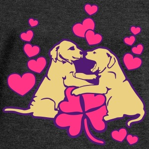 Dog Puppy Love Luck Tee shirts - Pull Femme col bateau de Bella
