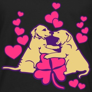 Dog Puppy Love Luck Tee shirts - T-shirt manches longues Premium Homme