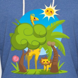 Body Jungle Animals - Leichtes Kapuzensweatshirt Unisex