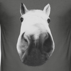 Horse head close-up Sacs et sacs à dos - Tee shirt près du corps Homme