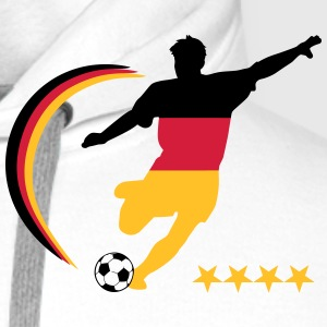 Soccer Player Germany Polo Shirts - Men's Premium Hoodie