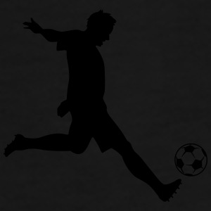 Soccer Player Silhouette Caps & Hats - Men's Premium T-Shirt