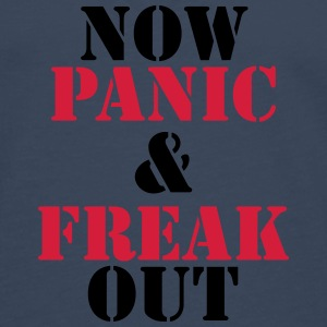 Now panic and freak out T-shirts - Långärmad premium-T-shirt herr