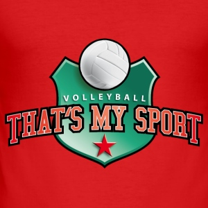 volleyball_my_sport_07201401 Langarmshirts - Männer Slim Fit T-Shirt