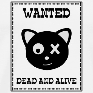 Wanted Schrödingers Katze Dead and Alive Kopper & flasker - Premium T-skjorte for menn