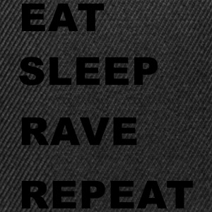 Eat, Sleep, Rave, Repeat. T-Shirts - Snapback Cap