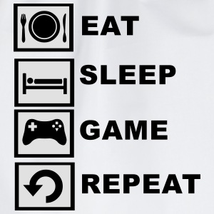 Eat, Sleep, Game, Repeat. T-Shirts - Drawstring Bag