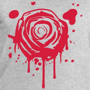 Red blood splashes KLEX graffiti rose T-Shirts - Men's Sweatshirt by Stanley & Stella