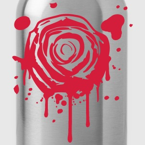 Red blood splashes KLEX graffiti rose T-Shirts - Water Bottle
