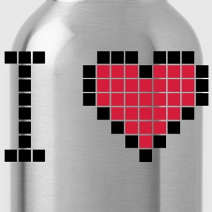 I love geek pixels hart T-shirts - Drinkfles