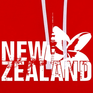 New Zealand T-shirts - Kontrast-hættetrøje