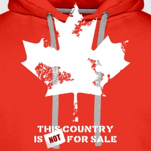 Canada, this country is not for sale Tee shirts - Sweat-shirt à capuche Premium pour hommes