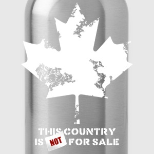 Canada, this country is not for sale T-Shirts - Water Bottle