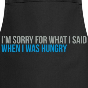 when i was hungry Tee shirts - Tablier de cuisine