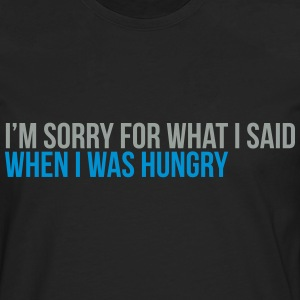 when i was hungry T-skjorter - Premium langermet T-skjorte for menn