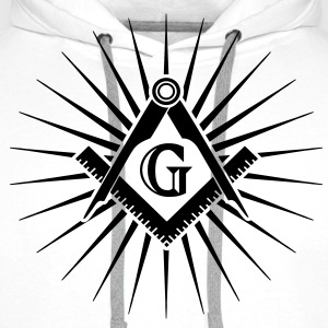 Freemasonry, Square Compass, Great Architect, God T-shirts - Herre Premium hættetrøje