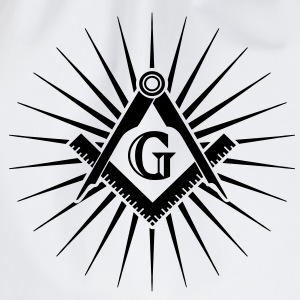 Freemasonry, Square Compass, Great Architect, God T-shirts - Sportstaske