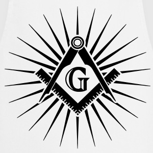 Freemasonry, Square Compass, Great Architect, God T-shirts - Forklæde