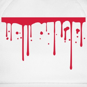 Blood drops underlined line T-Shirts - Baseball Cap