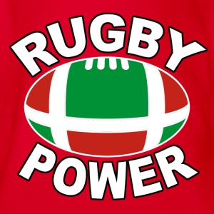 basque rugby power 01 Tee shirts - Body bébé bio manches courtes