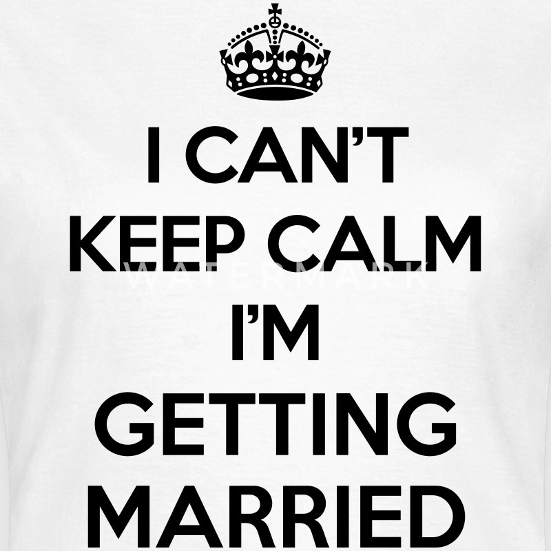 Keep Calm Married  T-Shirts - Women's T-Shirt