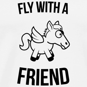 Fly with a friend, horse, Pegasus, horseback riding Other - Men's Premium T-Shirt