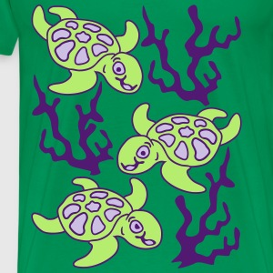 Turtles and Seaweed Tabliers - T-shirt Premium Homme