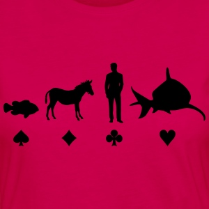 Evolution Poker T-Shirts - Women's Premium Longsleeve Shirt