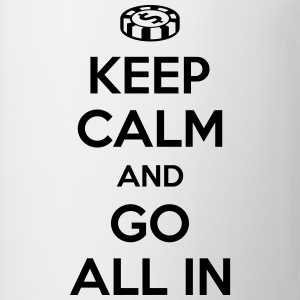 Poker: Keep calm and go all in T-shirts - Kop/krus