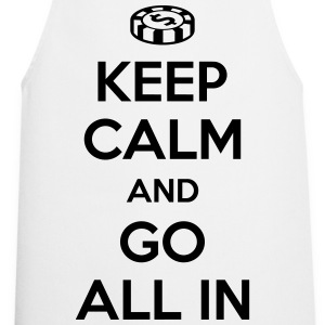 Poker: Keep calm and go all in T-shirts - Forklæde