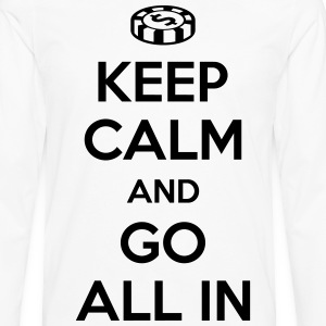Poker: Keep calm and go all in T-Shirts - Men's Premium Longsleeve Shirt