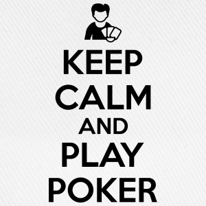 Keep calm and play poker T-skjorter - Baseballcap