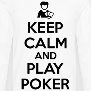 Keep calm and play poker T-shirts - Herre premium T-shirt med lange ærmer