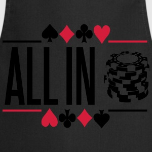 Poker: All in Camisetas - Delantal de cocina