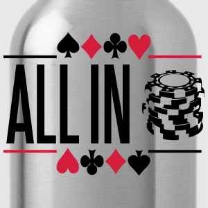 Poker: All in T-shirts - Drikkeflaske